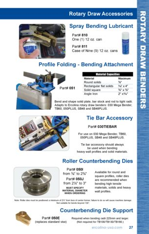 Rotary Draw Accessories