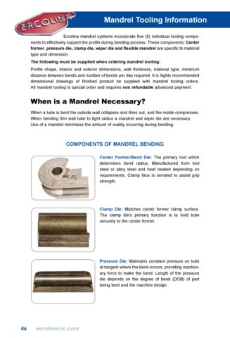 Mandrel Tooling Information