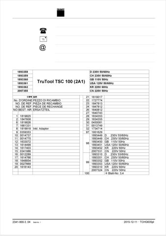 TSC 100 Spare Parts - 2