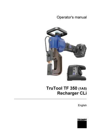 TF 350 Operators Manual