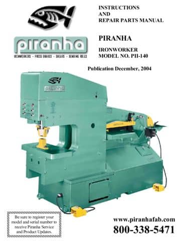 Model PII-140 Operations Manual